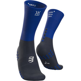 Compressport Chaussettes de compression mi-hautes, blue lolite